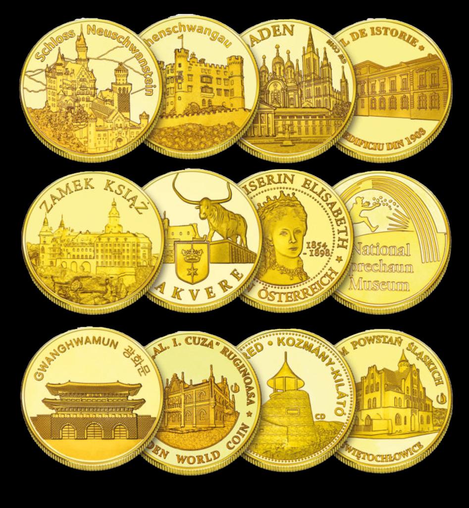 12 GW coins composition - transparent